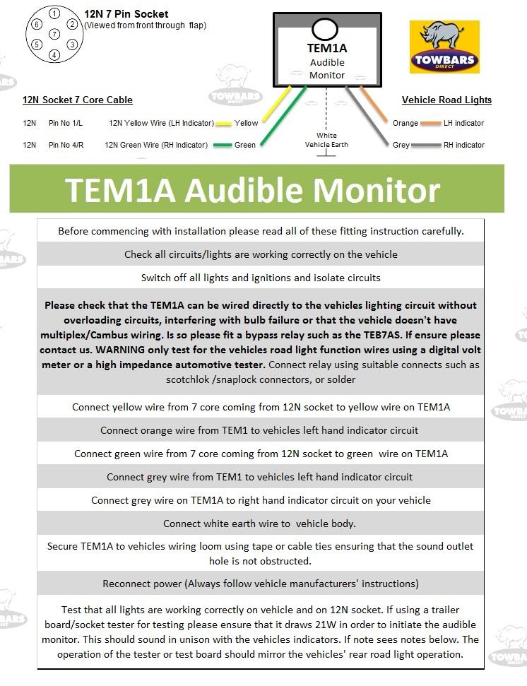 Universal audible monitor relay device for indicators jzgreentown universal towbar towing electric audible buzzer warning relay for indicators ebay swarovskicordoba Gallery